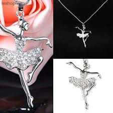 vintage crystal pendant necklace images Vintage crystal pendant necklace shellhard dancer ballet choker jpg
