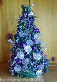 Christmas Decorations Blue Silver And White by Christmas Purple White Centerpieces Six Fabulous Christmas