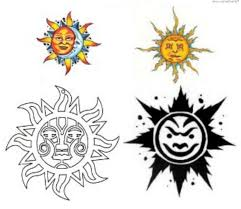 sun moon tattoos designs cool tattoos bonbaden
