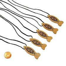 jesus fish necklace wooden religious fish necklace wholesale prices for church events