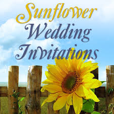 Sunflower Wedding Invitations Custom Sunflower Wedding Invitations For Your Big Day