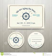 Wedding Invitations With Free Rsvp Cards Nautical We Are Tying The Knot Wedding Invitation And Rsvp Card