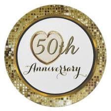50th wedding anniversary plate 50th golden wedding anniversary plate 50th wedding anniversary