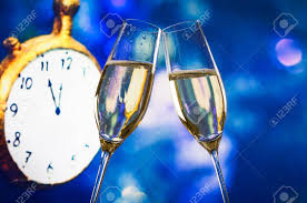 new years chagne flutes new year or christmas at midnight with chagne flutes make