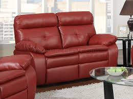 Leather Reclining Sofa Loveseat by Reclining Sofa U0026 Loveseat In Red Bonded Leather By Glory