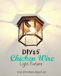 How To Wire Ceiling Lights by Thrifted Chicken Wire Light Fixture Bless U0027er House