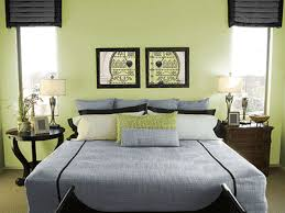 Bedroom Inspiring Green Wall Paint Idea With Wooden Array - Bedroom color green