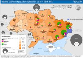 russia map by population the percentage of idps in the population of regions of ukraine