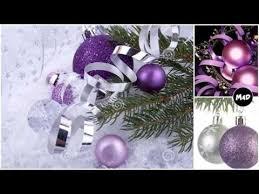 purple christmas decorations youtube