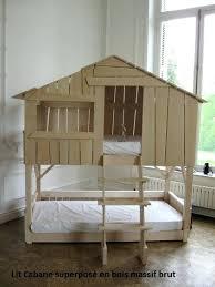 chambre bébé bois naturel lit bebe bois brut lit cabane enfant superpose en bois massif