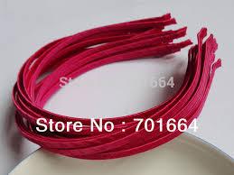 satin ribbon bulk 10pcs 5mm fushia satin ribbon wrapped plain metal hair headbands