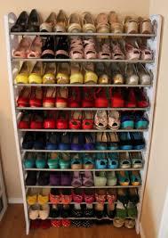 Shoe Home Decor Furniture White Diy Shoe Shelf Ideas Home Decor And More