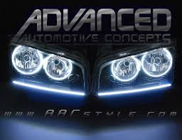 2008 dodge charger lights charger headlights with concept led strips installed