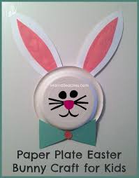paper plate easter bunny craft for kids mama teaches