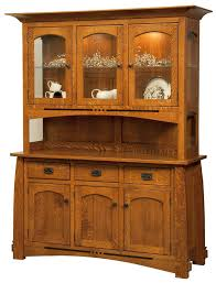 amish furniture mission style furniture american made american bungalow collection colebrook three door hutch and buffet