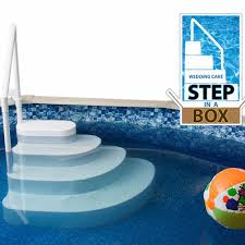 wedding cake pool step in a box american sale