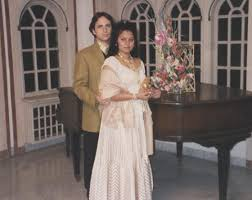 Madhavi with husband Ralph Sharma - family13