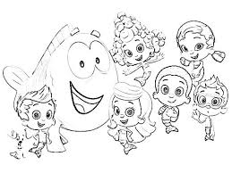 printable molly bubble guppies coloring pages cartoon 20361