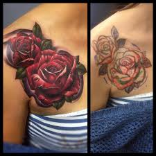 dark rose tattoo cover up best tattoo ideas gallery