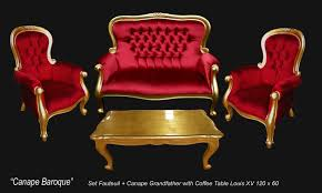 Commode Baroque Rouge by Salon Baroque Dore Et Velours Rouge Grandfather 126 Events