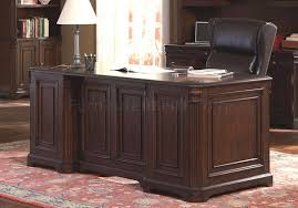 Stylish Office Cappuccino Finish Stylish Office Desk W Multiple Drawers