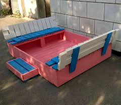 diy pallet sandbox for kids pallet furniture diy