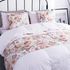 bed runners yazi polyester pink floral bed runner bedding end protector pad