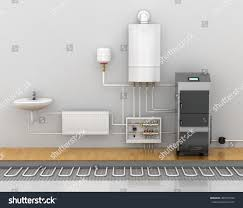 underfloor heating heating systems home 3d stock illustration