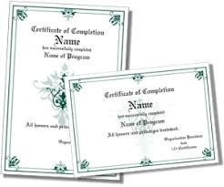 examples of certificates of completion certificate of completion