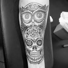 owl and skull chicano tattoo by ollie wallace best tattoo ideas