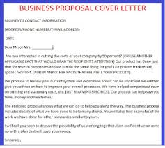 business proposal letter business proposal cover letter example