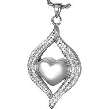 pet cremation jewelry teardrop ribbon heart pet cremation jewelry