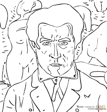 self portrait by kazimir malevich coloring page free printable