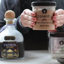 mixing patron xo cafe and gelato to create the best milkshake