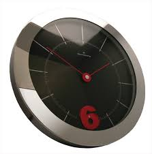 Oliver Hemming Large Wall Clock With Rotating Number  Buy - Modern designer wall clocks