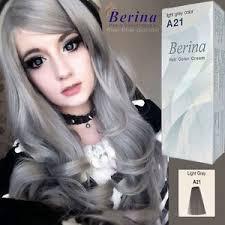 hoghtlighting hair with gray berina a21 permanent colour hair dye cream light grey silver new