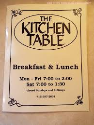 the kitchen table menu online menu of the kitchen table restaurant marshfield wisconsin