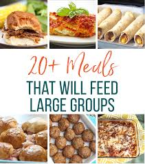 easy meal ideas for large groups of thriving home
