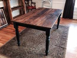 Handcrafted Reclaimed Barn Wood Table With Wrought Iron Black - Handcrafted dining room tables