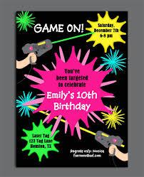 birthday invites surprising laser tag birthday invitations blank