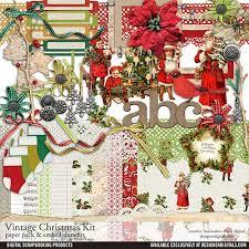 vintage christmas paper vintage christmas kit pertiet kits kt823631 designerdigitals
