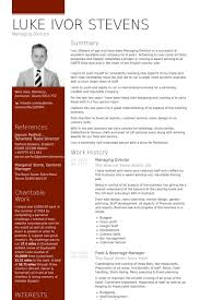 Food And Beverage Manager Resume Examples by Managing Director Resume Samples Visualcv Resume Samples Database