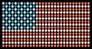american made light bulbs american flag in led lights on absolute black stock image image of