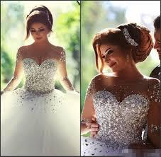 discount arabic 2017 long sleeve wedding dresses cheap formal