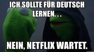 German Meme - ich sollte für deutsch lernen nein netflix wartet german