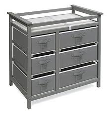 Badger Basket Baby Changing Table With Six Baskets Badger Basket Modern Baby Changing Table With Six