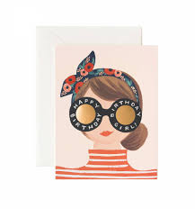 birthday girl birthday girl greeting card by rifle paper co made in usa