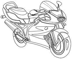 transportation motorcycle coloring sheets free printable for kids