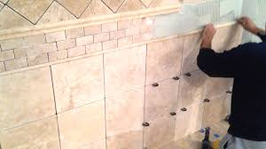 Installing Wall Tile Installing Travertine Floor Tile With Design Ideas New Basement And