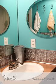 How To Put Up Tin Ceiling Tiles by Diy Faux Tin Ceiling Tile Back Splash Easy Bathrooms Ceiling